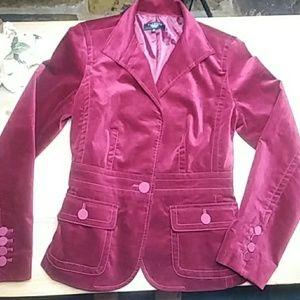 Talbots Velvet Style Cranberry Jacket